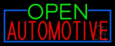 Open Automotive LED Neon Sign