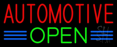 Red Automotive Green Open LED Neon Sign