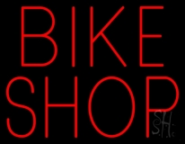 Red Bike Shop Neon Sign
