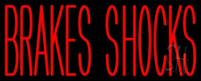 Red Brakes Shocks LED Neon Sign