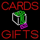 Red Cards And Gifts Block LED Neon Sign