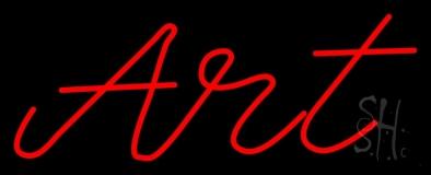 Red Cursive Art 1 Neon Sign