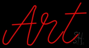 Red Cursive Art Neon Sign
