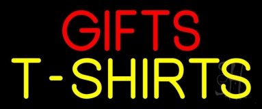 Red Gifts Yellow Tshirts LED Neon Sign