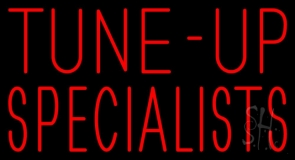 Red Block Tune Up Specialists Neon Sign