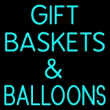 Turquoise Gift Baskets Balloons Neon Sign