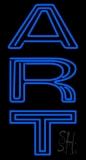 Vertical Blue Art Neon Sign