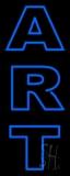 Vertical Blue Double Stroke Art Neon Sign