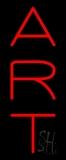 Vertical Red Art 1 Neon Sign