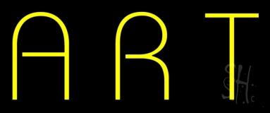 Yellow Art Block Neon Sign