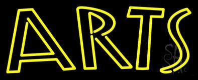 Yellow Arts Neon Sign