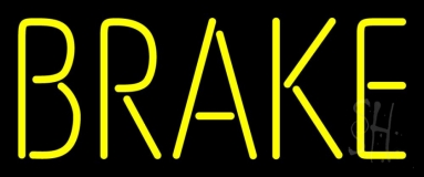 Yellow Brake LED Neon Sign