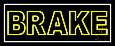 Yellow Brake With Border Neon Sign