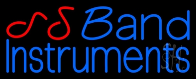 Blue Band Instruments 1 Neon Sign