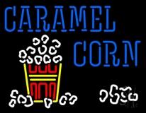 Blue Caramel Corn With Logo Neon Sign