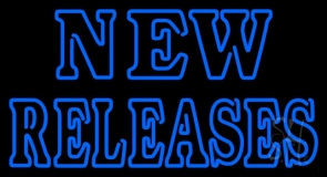 Blue New Releases Block Neon Sign