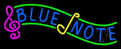 Blue Note 2 LED Neon Sign