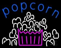 Blue Popcorn Logo Neon Sign