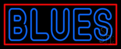 Double Stroke Blues with Border Neon Sign