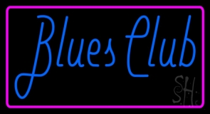 Blues Club Pink Border 1 LED Neon Sign