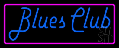 Blues Club Pink Border Neon Sign