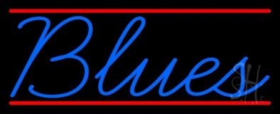 Blues Cursive 2 Neon Sign