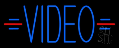 Blue Video LED Neon Sign