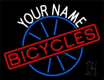 Custom Bicycles With Wheel Logo Neon Sign