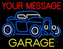 Custom White Garage Car Logo 1 Neon Sign