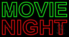 Green Movie Red Night Neon Sign