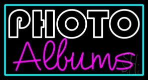 Photo Albums With Border Neon Sign