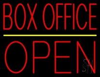 Red Box Office Open Neon Sign