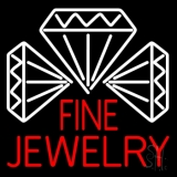 Red Fine Jewelry Block Neon Sign