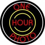 Red One Hour Photo 1 Neon Sign