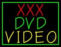 Xxx Dvd Video With Border Neon Sign