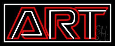 Art 6 With Border Neon Sign