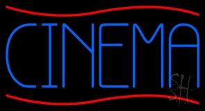Blue Cinema Block Neon Sign