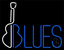 Blues With Guitar 1 Neon Sign