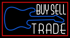Buy Sell Trade Guitar 2 LED Neon Sign