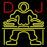 Red Dj Disc Jockey Music LED Neon Sign