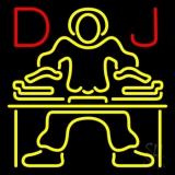 Red Dj Disc Jockey Music Neon Sign