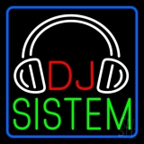 Dj Sistem With Logo 1 LED Neon Sign
