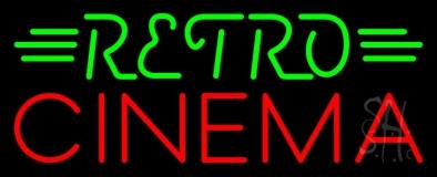 Green Retro Red Cinema Neon Sign