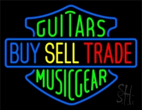 Guitars Buy Sell Trade Neon Sign