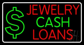 Jewelry Cash Loans Neon Sign