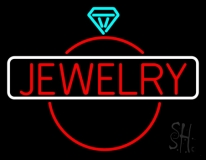Jewelry Center Ring Logo Neon Sign