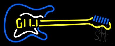 Guitar Logo 1 LED Neon Sign