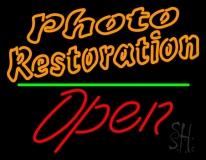 Orange Photo Restoration With Open 2 Neon Sign