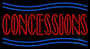 Red Concessions Neon Sign
