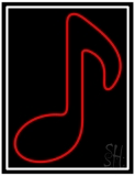 Red Music Note 1 Neon Sign